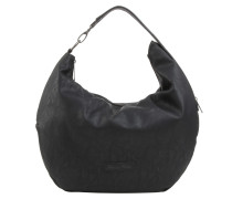 Hobo-Bag 'fine Saddle' schwarz