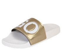 Slipper 'time Out' gold / schwarz