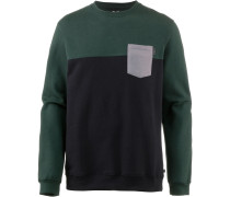 Sweatshirt 'Block Pocket' navy / grün