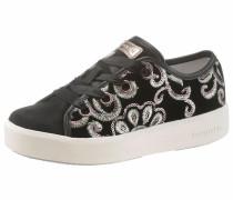 Sneaker pastellgrün / schwarz