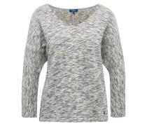 Pullover dunkelgrau / perlweiß