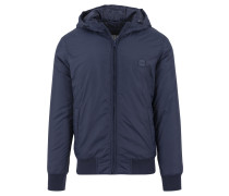 Padded Windbreaker Jacket navy