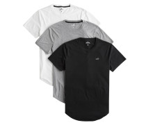 T-Shirts grau / schwarz / weiß
