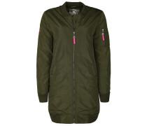 langer Blouson oliv / pink