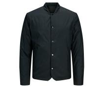 Stehkragen Jacke schwarz