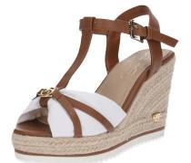 Sandale braun / weiß