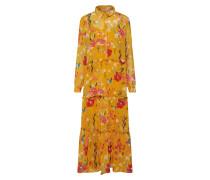 Kleid 'onlNORA' gelb / rot