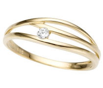 Goldring gold / weiß