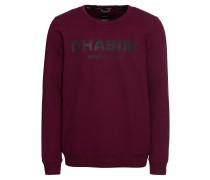 Sweatshirt 'low' weinrot / schwarz