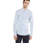 Hemd 'nos - Classic longsleeve shirt in crispy cotton/lycra qualit'