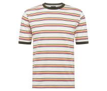 T-Shirt 'New Paltz' creme / gelb / grün