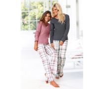 Pyjama (2 Stck.) grau / rosa