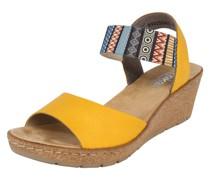 Sandale gelb / mischfarben