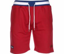 Shorts ' Ridere Fleece ' rot / weiß