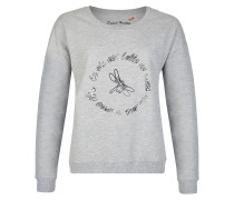 Sportiver Pullover hellgrau