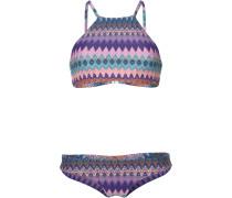 Bikini 'PW High Neck Bikini' türkis / lila