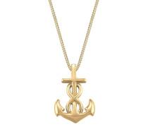 Kette 'Anker Infinity Kreuz' gold