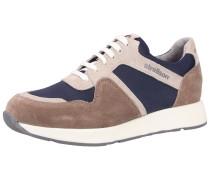 Sneaker nachtblau / braun / weiß