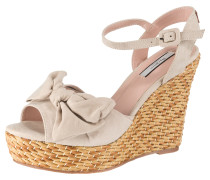 Sandaletten hellbraun / puder