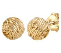 Ohrringe Organic Kreis Ball gold