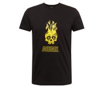 Shirt 't-Diego' gelb / schwarz / weiß
