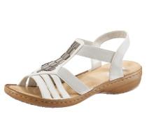 Sandale silbergrau / naturweiß