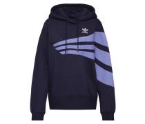Sweatshirt himmelblau / schwarz