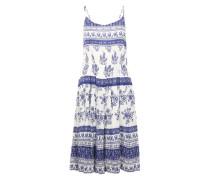 Sommerkleid 'Mono Tile Strap Dress' blau / weiß