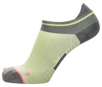 Socken basaltgrau / hellgrün / koralle