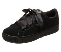 Sneaker 'Vikky Platform Ribbon' schwarz