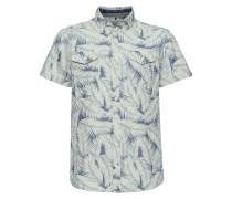 Kurzarmhemd mit tropischem Muster