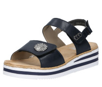 Sandale beige / navy / hellbraun