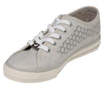 Sneaker mit Strass-Besatz beige / hellgrau