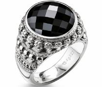 Silberring schwarz / silber