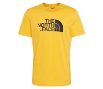 Shirt 'Easy' gelb / schwarz