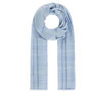 Schal hellblau / weiß