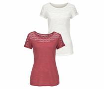 Shirts creme / rostrot