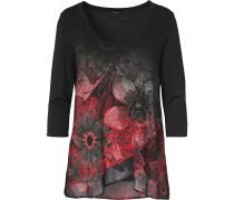 Shirt dunkelgrau / kirschrot / schwarz