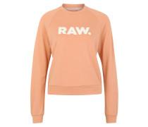 Sweatshirt 'Xula' pfirsich / weiß