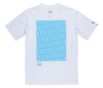 'Commit Block' T-Shirt aqua / weiß