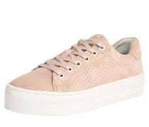 Sneaker mit Veloursleder rosa
