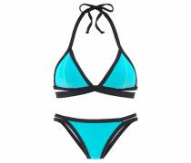 Triangel-Bikini türkis / schwarz