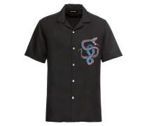 Hemd 'embroidered Shirt With A Hawaiian Collar'