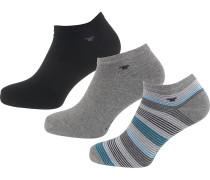 3 Paar Sneakersocken grau / schwarz