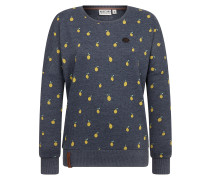 Sweatshirt 'Can't buy life' indigo / gelb