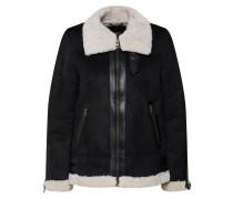 Jacke schwarz / wollweiß
