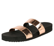 Slides 'double strap mirrow' schwarz