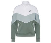 Sweater grün / weiß