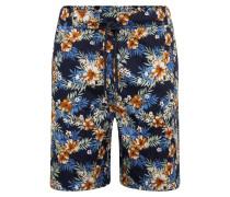 Shorts 'Pattern Resort' blau / gelb