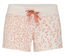 Shorts aus Baumwollmix orangerot / weiß